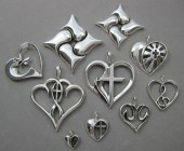 Christian theme heart jewelry designs Nancy Denmark