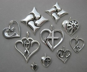 Christian theme heart jewelry designs Nancy Denmark