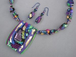 fused glass polymer clay beads nancy denmark