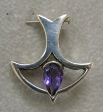 Descending Dove With Amethyst