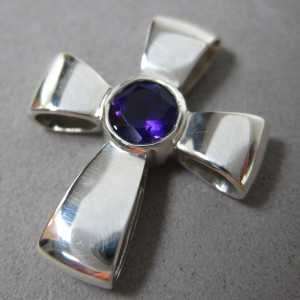 Gift of God Sterling Silver Amethyst Cross