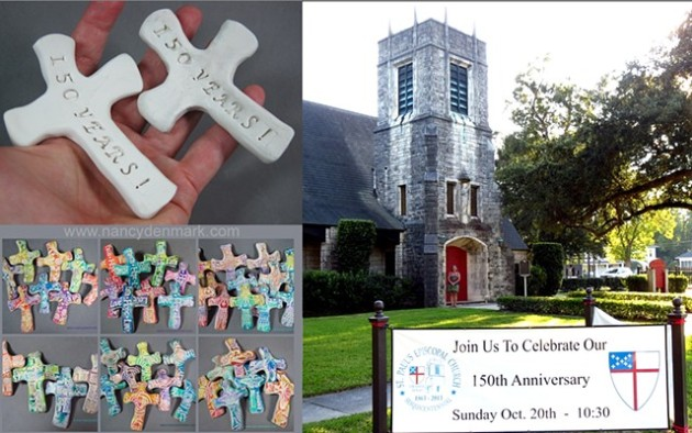 Hand Cross Order created by Nancy Denmark for 150th Anniversary Celebration of St. Paul's Episcopal Church, Orange Texas.