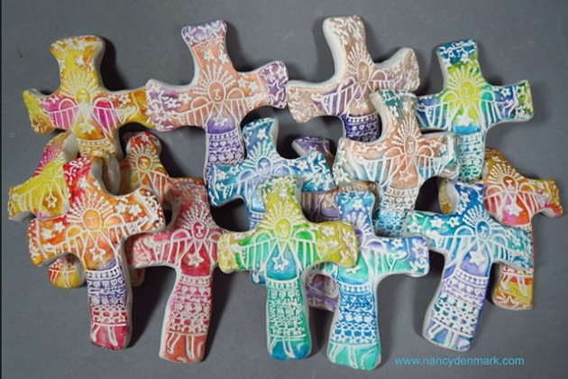 Joyful Angel Hand Crosses by Nancy Denmark